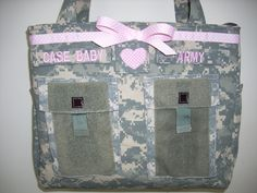 Army diaper bag camo daddy diaper bag Gift for her unique gift handmade custom embroidery  personalized customized by bythebayoriginals on Etsy