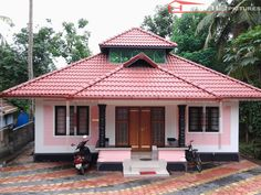 800 Square Feet 3 Bedroom Beautiful Low Budget Home Design For 11 Lacks Village House Design, Kerala House Design, House Front Design, Small House Design, Modern House Design, Indian House Plans, My House Plans, Small House Plans, Low Budget House