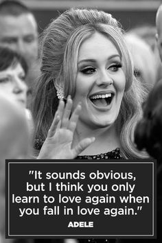 celebrity quotes : Learn to love again advises Adele in her top inspiring quotes! - The Love Quotes Adele Quotes, Me Quotes, Quotes 2016, Learning To Love Again, Learn To Love, Love Again Quotes, Quotes To Live By, Paloma Faith Only Love, Falling In Love Again