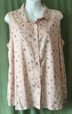 """Atmosphere, size 16 blouse. New with tags. Closest colour is in the 3rd photo. Armpit to armpit 21"""" Shoulder to hem 28"""". A nice soft fabric. 