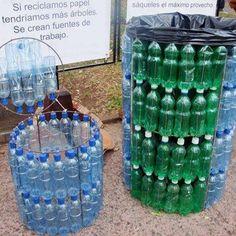 Kosze z plastikowych butelek
