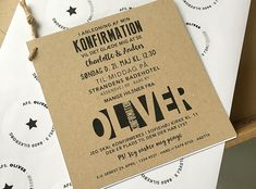 indbydelse / invitation konfirmation The Knot, Etsy Wedding Signs, Log Centerpieces, Paper Napkin Folding, Diy Nightstand, Thanksgiving Table Settings, Seating Plan Wedding, Branch Decor, Event Branding
