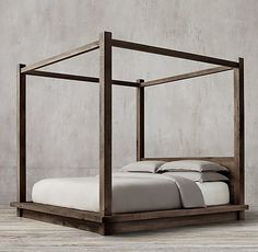 Reclaimed Russian Oak Four-Poster Bed                                                                                                                                                                                 More