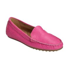 Women's Aerosoles Over Drive Loafer ($60) ❤ liked on Polyvore featuring shoes, loafers, casual, casual shoes, leather moccasins, leather slip on loafers, pink flats, slip-on shoes and leather loafers