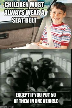 Seatbelt safety meme