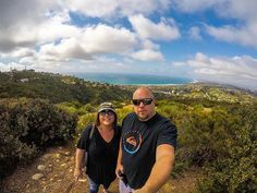 Me and my wife at the top of Mt.Soledad in LaJolla. #scenicview #scenic #gopro #goprohero #goprophotography #goprohero5 #sandiego #mtsoledad #photogenic #photooftheday #photographer #selfie #selfiesunday #topoftheworld #creativity #sundayfunday #lajolla #