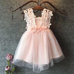 Encontrar Más Vestidos Información acerca de 2015 algodón de la flor de las muchachas del cordón 3 8Y Casual caliente vestido de fiesta de verano para las muchachas, alta calidad Vestidos de Super Clothing Shop en Aliexpress.com