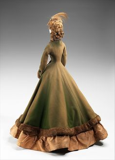 """1867 Doll"" Designer: Jacques Fath (French, 1912–1954) Georgel Date: 1949 Culture: French Medium: metal, plaster, hair, wool, silk, fur, feather. Back"