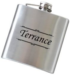 Personalized Sophisticated Name Flask, Engraved Hip Flasks in Your Choice of Colors, 6 oz Stainless Steel Flask - F23. Our high quality, stainless steel flasks will be laser engraved with precision with your custom text. Our specialized engraving process permanently marks the flask, so it will not wear off over time. ...Item Details... ~ Includes one flask that holds 6 oz of your favorite drink ~ Constructed from durable food grade stainless steel ~ Complimentary laser engraving is always...