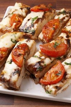 Caprese Garlic Bread vertical
