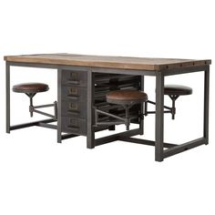 Industrial style furniture Cool Amazoncom Wilkes Industrial Loft Reclaimed Pine Iron Swivel Stools Desk Dining Table Kitchen Dining Pinterest 378 Best Industrial Furniture Images Industrial Style Homes