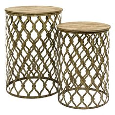 I pinned this 2 Piece Maridell Nesting Table Set from the Northern Nautical event at Joss and Main!