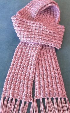 Free Knitting Pattern for Heartwarming Scarf Julie Farmer's beginner scarf has an easy to remember stitch pattern to give it texture. This unisex scarf only uses one skein of the recommended yarn. Pictured project is by pixiesmom.
