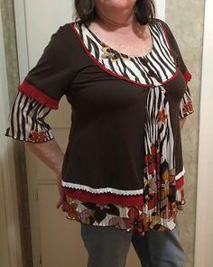Plus size tunic upcycled repurposed preloved boho gypsy eco