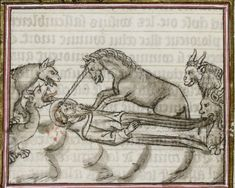 Good old attic — St Anthony and his demons @GallicaBnF, Fr. 313,...
