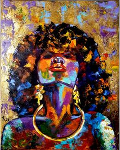 40%OFF Afro woman painting Ethnic painting Gold modern painting Black woman art African portrait women African art painting Figurative painting Black girl magic art, Gold oil painting on canvas, spectacular African woman. Only original art by VladyArShop. Size 16x20 inches #womanpainting #Africanart #sale #etsy Afro Painting, Woman Painting, Oil Painting On Canvas, Figure Painting, Street Art, African Art Paintings, Black Artwork, Woman Art, Magic Art
