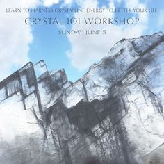 NEXT SUNDAY! If you have always loved crystals but weren't sure how to work with them metaphysically this is the workshop for you. In this intensive one day class you will learn so much about how to work with crystals what the most fundamental crystals are for your kit just how to cleanse your crystals developing your intuition with crystals and more. Though this is an beginning class the information you can take away will take your metaphysical understanding of crystals to the next level…
