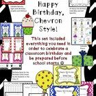 Birthdays are such a big deal in the primary grades! This Chevron Styled bundle will help you be prepared for them all year long!  Please download ...