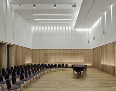 Halle, Architecture Today, Interior Architecture, Manchester, Multipurpose Hall, Theater, Rehearsal Room, Studio 24, Ground Floor Plan