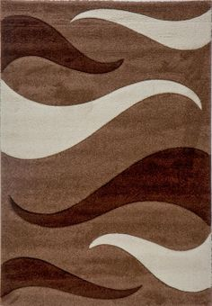 Deco Rugs & Carpet Milano Collection - Cream & Brown - M2106