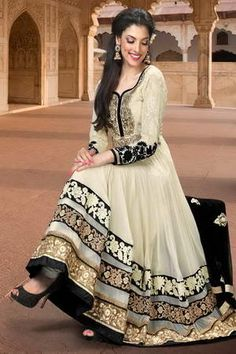 Anarkali Suit: Buy Latest Designer Anarkali Suits for Women Online Pakistani Party Wear, Pakistani Outfits, Pakistani Bridal, Anarkali Dress, Lehenga, Anarkali Suits, White Anarkali, Long Anarkali, White Churidar