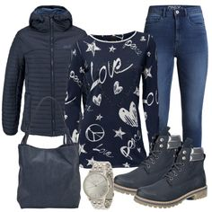 Herbst-Outfits: LovePeace bei FrauenOutfits.de ___ #outfit #damenoutfit #frauenoutfit #herbstoutfit #herbst #inspiration #outfitinspiration #fashion #stiefeletten #jacke #uhr