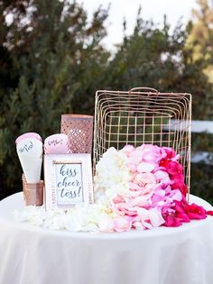 This darling DIY Petal Toss Bar is a fun, modern way to make your ceremony even more special! Our detailed tutorial features step-by-step instructions and even free printables!Photography + DIY Tutorial by: Something Turquoise Wedding Send Off, Wedding Exits, Budget Wedding, Wedding Ceremony, Our Wedding, Dream Wedding, Wedding Unique, Autumn Wedding, Unique Weddings