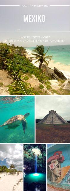 Rundreise durch Yucatan, Mexiko: Unser Reisebericht entführt dich zu Maya Tempeln, Cenoten, feinsten Stränden und Inseln und riesigen Schildkröten! Damit dein Urlaub auf Yucatan entspannt und unvergesslich wird, stellen wir dir unsere Route vor, geben Reisetipps zu den Themen Transport, Unterkünfte, Essen, Sicherheit und den Kosten unseres Backpackings. Lass auch du dich von Yucatan verzaubern!