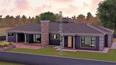 4 Bedroom House Plan – My Building Plans South Africa Round House Plans, Tuscan House Plans, Square House Plans, Metal House Plans, Free House Plans, House Plans With Photos, Modern House Plans, Flat Roof House Designs, 4 Bedroom House Designs