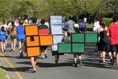 What better way to prove you two are the perfect fit than to dress as Tetris pieces? What you need to do: All you need are some cardboard and paint. Glue boxes together, then paint them and draw black outlines to create the little Tetris squares. Source: Flickr user Gamma Man