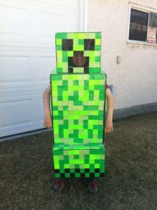 minecraft creeper costume - Halloween Crafts For 8 Year Olds