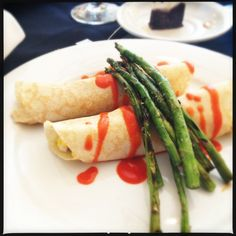 Chicken Crepes from Vic's on the River during Savannah Restaurant Week