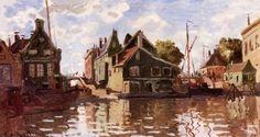 Canal in Zaandam - Claude Monet - The Athenaeum