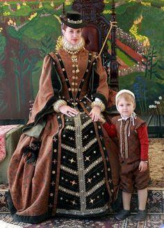 16世紀後半 エリザベス1世時代 : 画像で見るざっくり西洋ファッションの歴史【女性編】 - NAVER まとめ