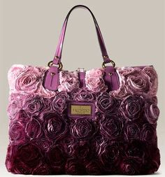 Valentino purple rose bag. Love the purple ombre!