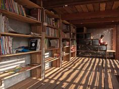 Norwegian Students Build Airy Bamboo and Teak Library for Thai...