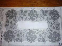 Gallery.ru / Фото #116 - krinos 2 - ergoxeiro Filet Crochet, Thread Crochet, Crochet Tablecloth, Crochet Doilies, Crochet Lace, Crochet Stitches Patterns, Doily Patterns, Stitch Patterns, Cross Stitch Rose