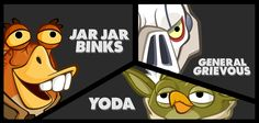 Some of the characters from Angry birds star wars II   https://itunes.apple.com/us/app/angry-birds-star-wars-ii/id645859810?mt=8&at=10laCC