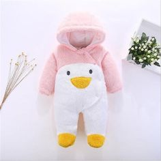 634afa87a Myudi - 2017 Warm Baby One-Piece Romper Boy Girl s Star Coat Newborn ...