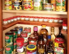 Love the spice shelf. Diy instructions for this sweet in-cabinet spice shelf, cabinet-door-mounted cutting board storage and a ton other easy wood diy projects for around the home Cabinet Spice Rack, Diy Spice Rack, Spice Shelf, Spice Storage, Rack Shelf, Jar Storage, Pantry Storage, Cabinet Storage, Closet Storage