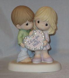 I Give You My Heart Precious Moments Couple Bling Crystals Man Woman NWOB Love #PreciousMoments