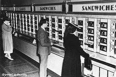 The very cool automat with the great deco font.