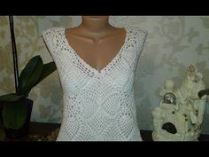 Кардиган из квадратных мотивов. Часть 3. Вывязывание спинки и полочек. Knitting women's cardigan. - YouTube