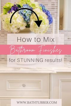 You can mix finishes in the bathroom if you know the rules! Get designer tips to will help you achieve stunning results. Learn how to easily create an upscale, custom look. Bathroom finishes. Bathroom finishes ideas. Bathroom finishes mixing. Mixing metal finishes in bathroom. Mixing finishes in bathroom.#bathroomfinishes #bathroomfinishesideas #bathroomfinishesmixing #mixingmetalfinishesinbathroom #mixingfinishesinbathroom Modern Light Fixtures, Bathroom Light Fixtures, Bathroom Faucets, Bathroom Lighting, Very Small Bathroom, Spa Like Bathroom, Bathroom Ideas, Elegant Bathroom Decor, Bathroom Accessories Luxury