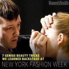 7 Genius Beauty Tricks We Learned Backstage at New York Fashion Week | Women's Health Magazine