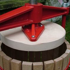 Ideal for pressing apples and pears to create delicious juices, perfect for homemade cider and perry! http://www.harrodhorticultural.com/cross-beam-fruit-press-12-litre-pid7869.html