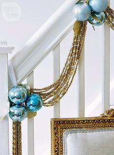 Baby blue Christmas ornaments