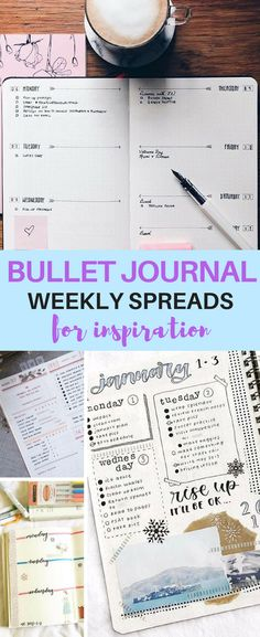 These incredible weekly spreads will give you all the inspiration and ideas you need to set up your weekly goals in your bullet journal!