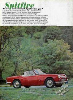 American Triumph Spitfire advert courtesy of vintageadbrowser.com