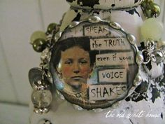 even if your voice shakes assemblage bracelet  by theoldwhitehouse, $35.00